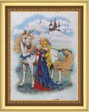 Продаю картину вышитую крестом